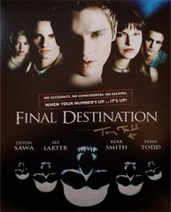 Tony Todd autograph 11x14 photo, Final Destination