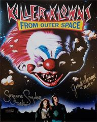 Killer Klowns From Outer Space 11x14, signed by Grant Cramer and Suzanne Snyder