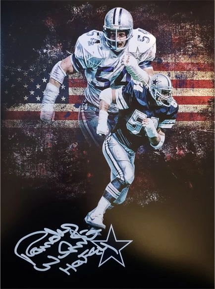 Randy White autograph 11x14, Dallas Cowboys, HOF inscription