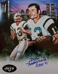Don Maynard autograph 11x14 custom photo, New York Jets, HOF inscription
