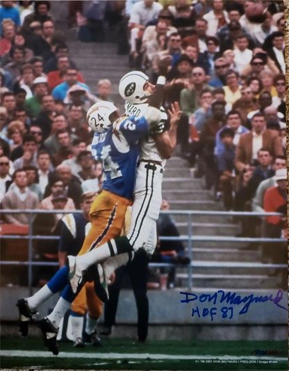 Don Maynard autograph 11x14 photo, New York Jets, HOF inscription