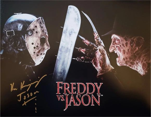 Ken Kirzinger autograph 11x14, Freddy vs Jason, inscription Jason