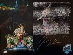 Jason Kelce autograph 16x20 custom photo, SUPER BOWL SPEECH!