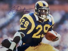 Eric Dickerson autograph 16x20, Los Angeles Rams, HOF inscription