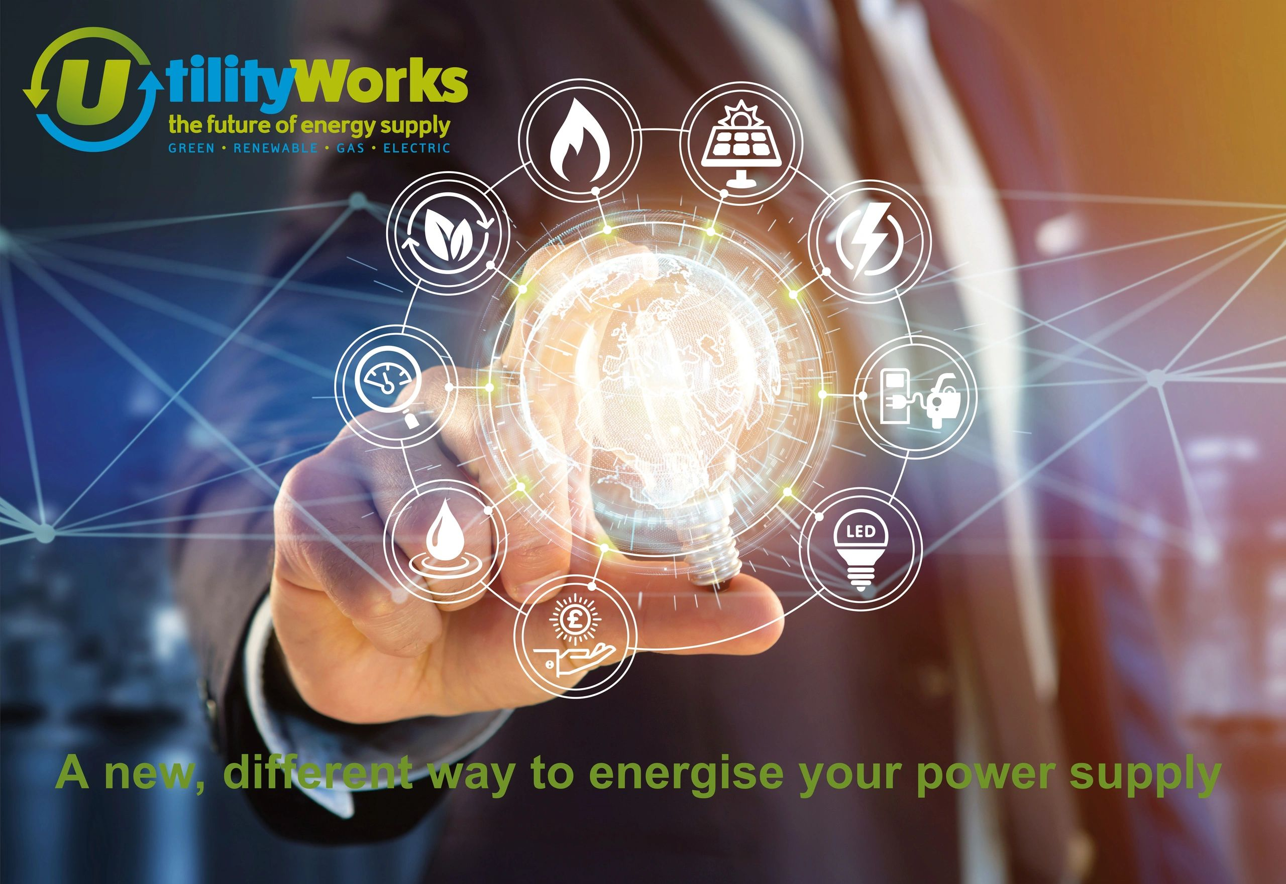 Utility Works aim is to reduce business energy costs and carbon emissions for business consumers.