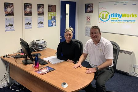 Mark Crozier and Steph Harwood at Utility Works Ltd