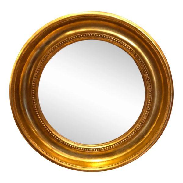 Round Empire Style Gold & Black Mirror by Randy Esada Designs