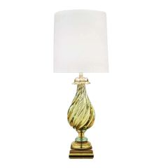 Vintage 1960's Seguso Murano Italian Glass Lamp by Marbro