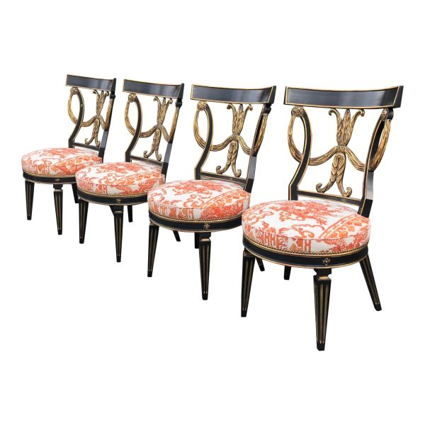 Regency Designer Dining Chairs by Randy Esada Designs for Prospr - Set of 4