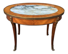 Antique Gilt Bronze Marble Top End or Side Table