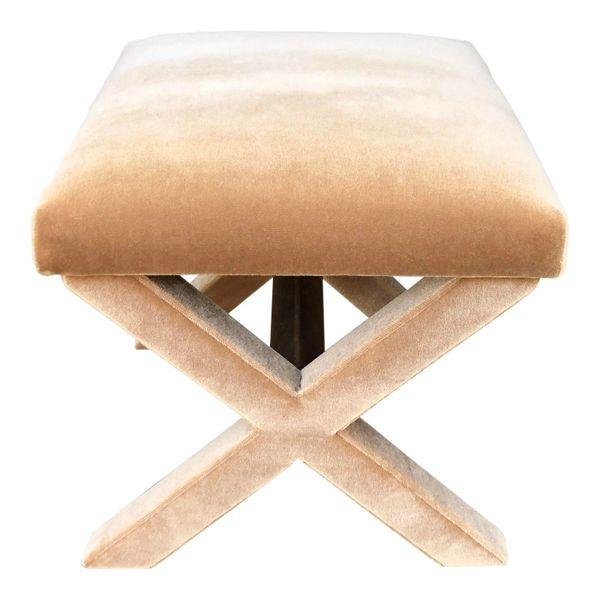 J. Robert Scott Mohair Modern Designer X Bench