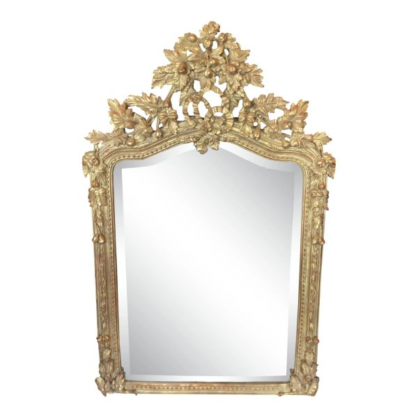 Fine Designer Louis XV Style Rococo Gilt Mirror