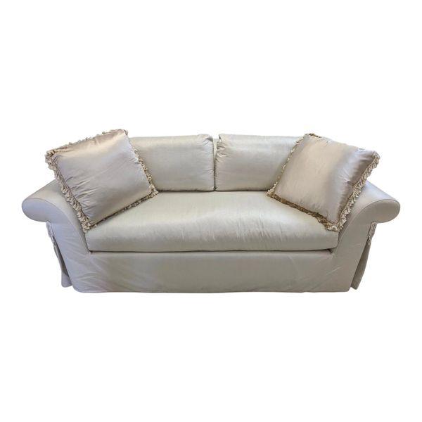 J. Robert Scott Silk Upholstered Down Filled Sofa