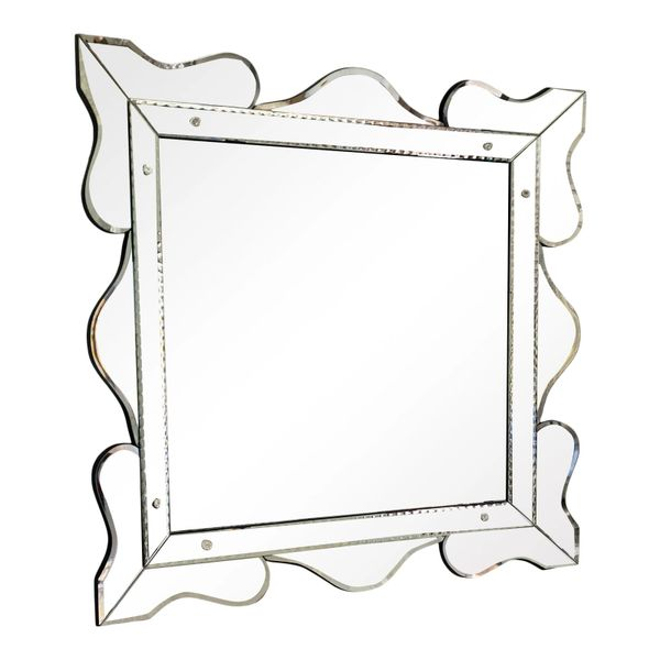 Huge Vintage Dorothy Draper Style Hollywood Regency Serpentine Mirror