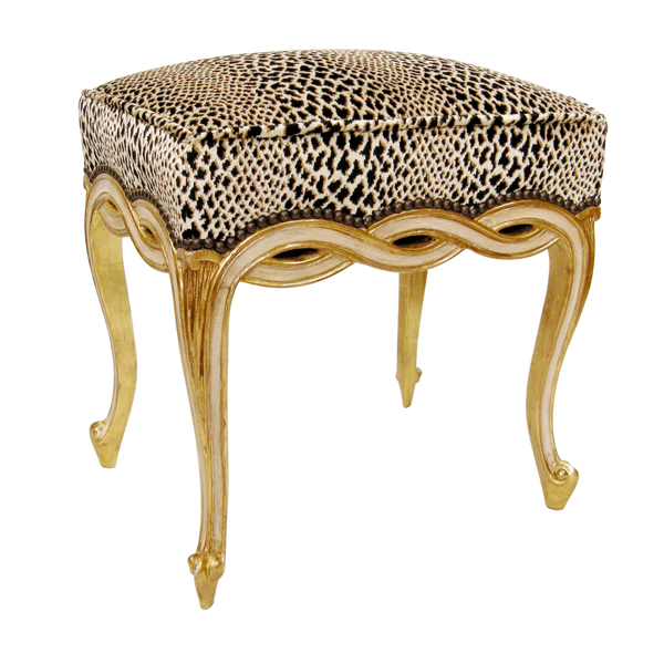 REGENCY STYLE DESIGNER TABORET BENCH BY RANDY ESADA DESIGNS