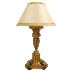 CARVED ITALIAN PALADIN GILT-WOOD LAMP BY RANDY ESADA DESIGNS FOR PROSPR