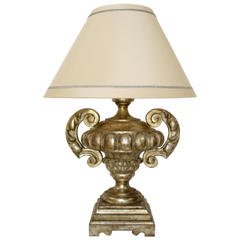 CARVED ITALIAN VERONESE GILT-WOOD TABLE LAMP BY RANDY ESADA DESIGNS