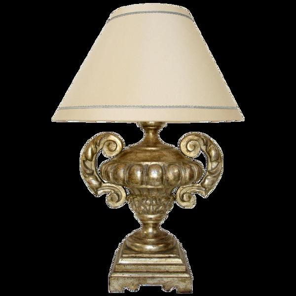 CARVED ITALIAN VERONESE GILT-WOOD TABLE LAMP BY RANDY ESADA DESIGNS