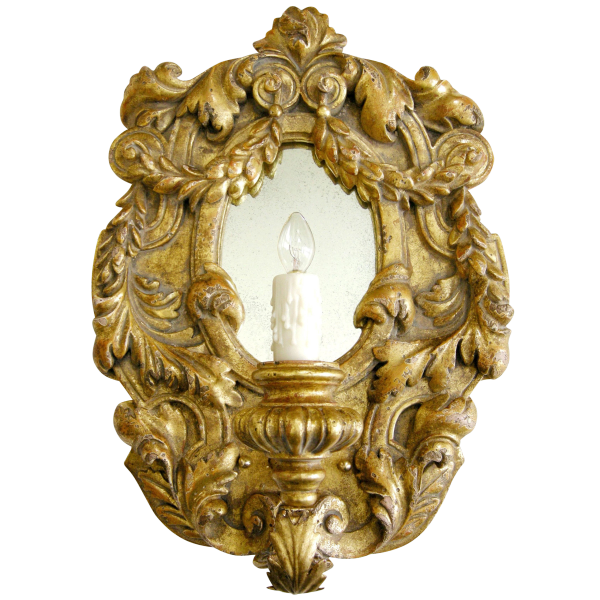 ITALIAN GILT-WOOD DESIGNER SCONCE BY RANDY ESADA DESIGNS FOR PROSPR