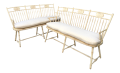 RICHARD MULLIGAN AMERICAN DESIGNER BENCHES - A PAIR