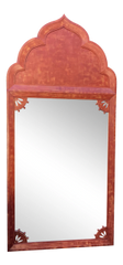 Huge Mid 20th Century Tony Duquette Red Bombay India Mirror