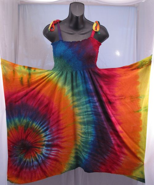 Rainbow Spiral Festival Dress/Skirt