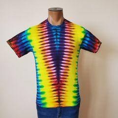 Yellow Rainbow V Kids T-Shirt