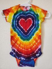 Red Rainbow Heart Onesie