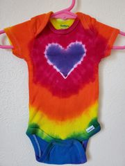 Purple Rainbow Heart Onesie