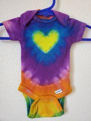 Yellow Rainbow Heart Onesie