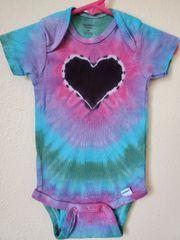Dark Pastel Rainbow Heart Onesie