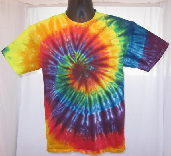 Rainbow Spiral Adult T-Shirt