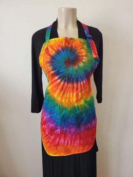 Rainbow Spiral 2 Pocket Apron