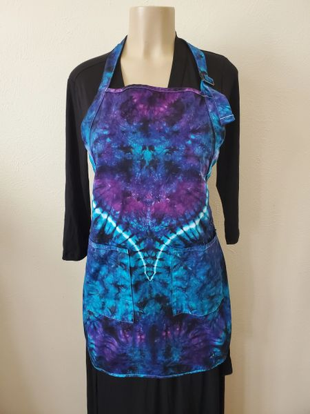 Blue and Purple Marble 2 Pocket Apron