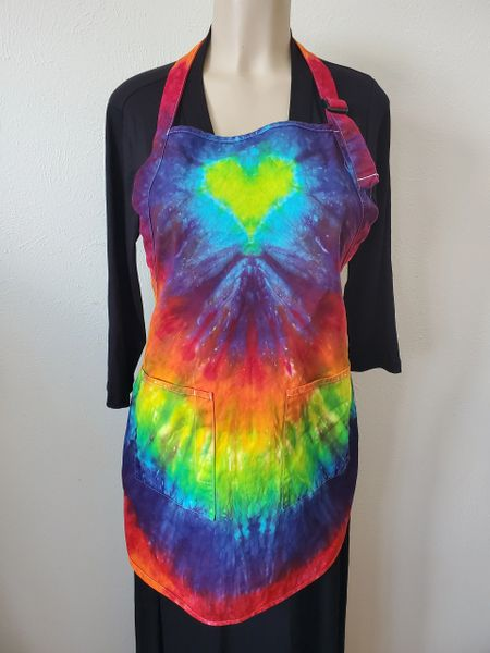 Rainbow W/ Yellow Heart 2 Pocket Apron