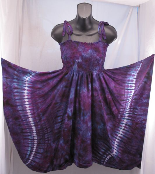 Purple Marble Festival Dress/Skirt