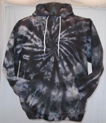 Black and Grey Spiral Adult Hooded Sweatshirt