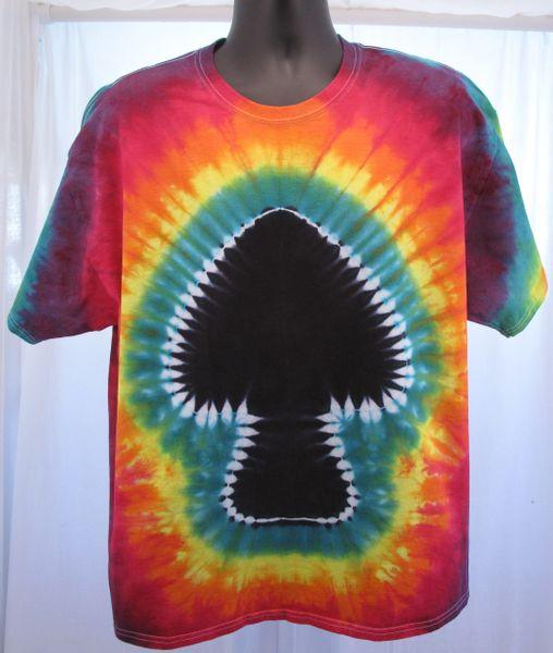 Rainbow with Black Mushroom Adult T-Shirt