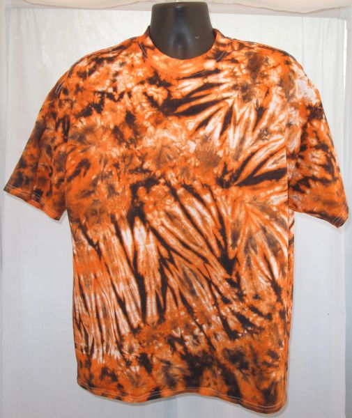 Orange and Black Marble Adult T-Shirt