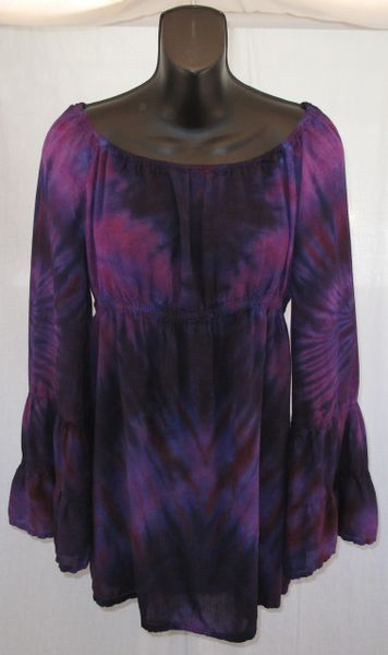 Purple Double Spiral Peasant Blouse