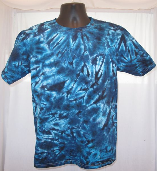 Black and Blue Marble Kids T-Shirt