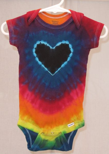 Dark Rainbow Heart Onesie