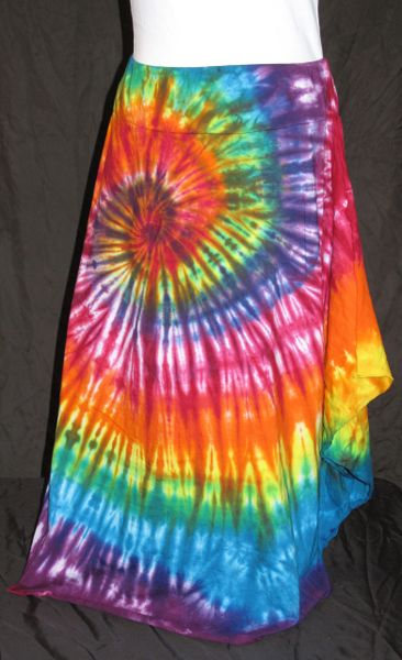 Rainbow Spiral Lotus Skirt