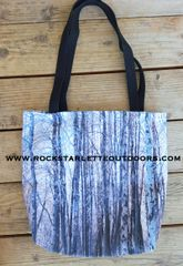 Tote Bag: Snow Birch Tree Pattern; On SALE $5 OFF