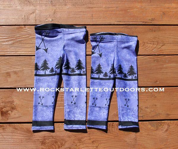 Youth Arrow Leggings, Purple, (2T-14)
