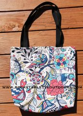 SALE 50% OFF, Tote Bag: Cheerful Birds Design