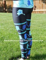 SALE 15% OFF, Love Alaska Leggings, All Over Map