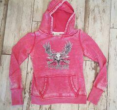 SALE 50% OFF, Pink Vintage Logo Hoodie, Rockstarlette Bowhunting