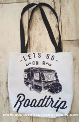 SALE 30% OFF, Tote Bag: Lets Go On A Roadtrip