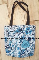 SALE 50% OFF Tote Bag: Cheerful Birds in Blue